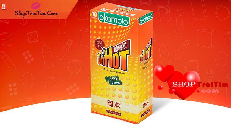Bao cao su cao cấp Okamoto Hot Dot