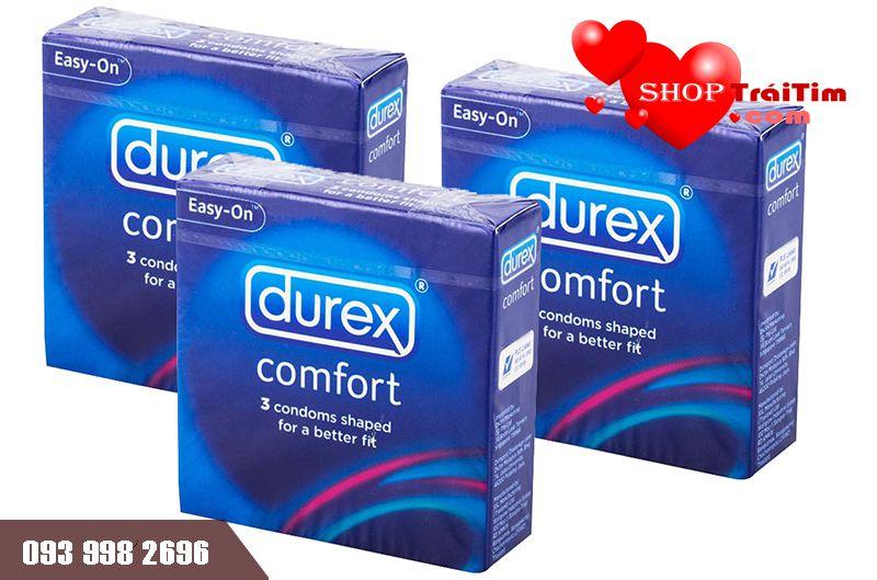 bao cao su durex comfort sản xuất thái lan