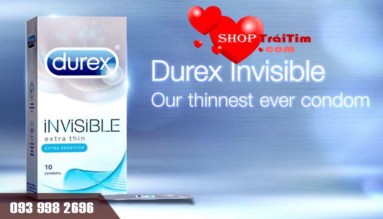 Bao cao su Durex Invisible Extra Thin dòng bao siêu mỏng thế hệ mới