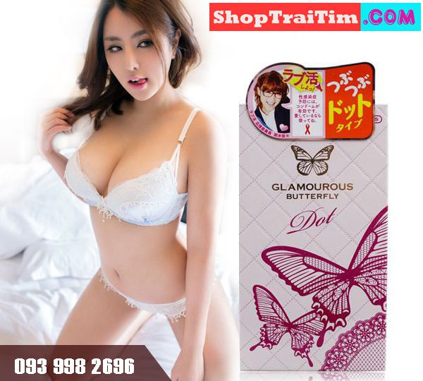Bao Cao Su Jex Glamourous Butterfly Dot Made In Japan Hạt Ngọc Trai 1