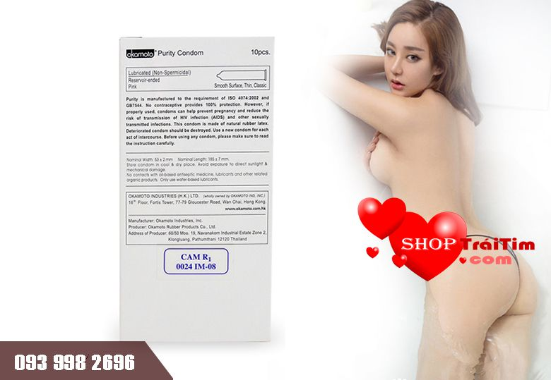 Bao Cao Su Okamoto Skinless Skin Purity 2 trong 1
