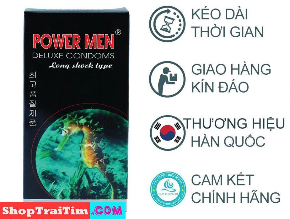 bao cao su power men deluxe comdoms long shock type 4