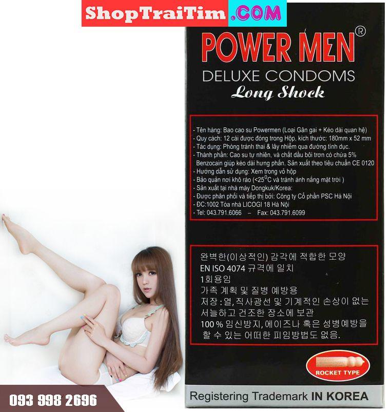 bao cao su power men deluxe comdoms long shock type 5