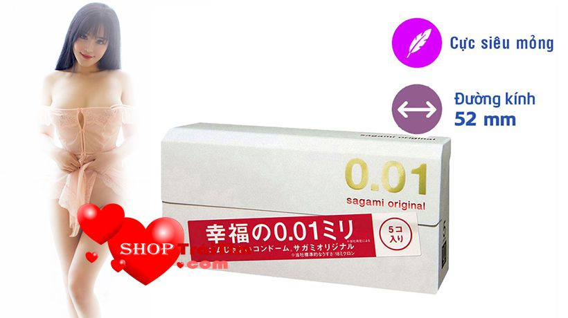 bao cao su sagami Original 0.01 mang lại cảm giác chân thật