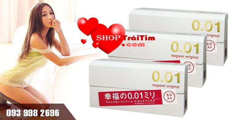 bao cao su sagami Original 0.01 siêu mỏng tuyệt đối