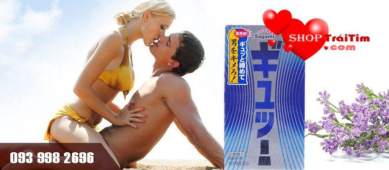 bao cao su sagami tight fit nhập khẩu nhật bản