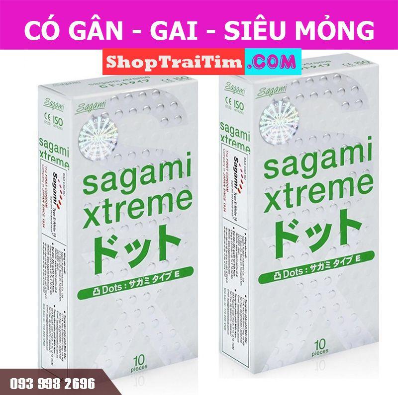bao cao su Sagami Xtreme Dot phiên bản mới 4