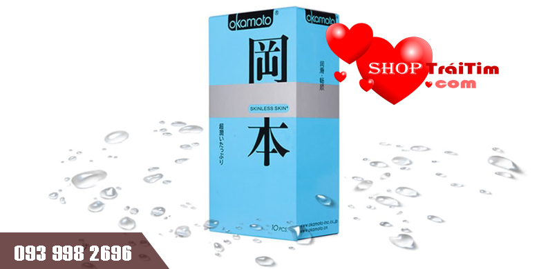 bcs Okamoto Skinless Skin Super Lubricative hộp 10 chiếc