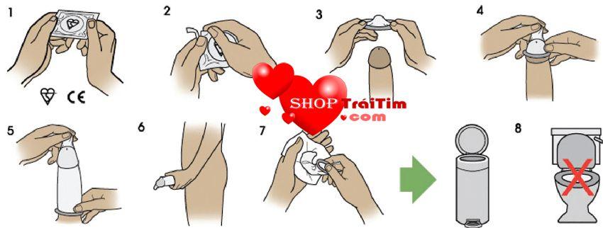 cách sử dụng bao cao su durex love