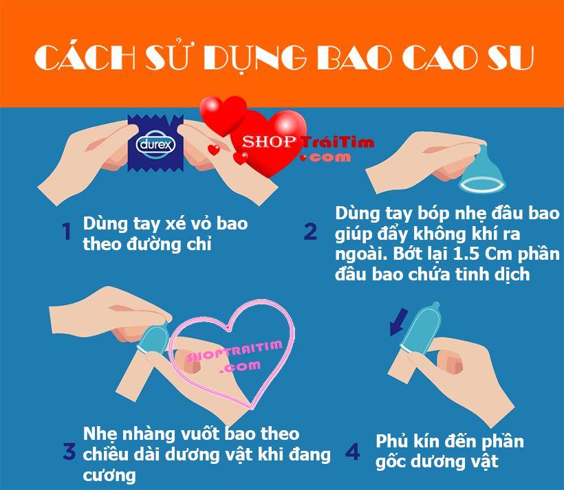 cách sử dụng bao cao su rocmen long shock