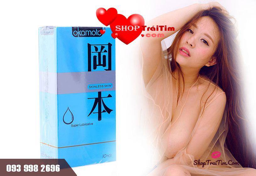 Hết khô hạn với Okamoto Skinless Skin Super Lubricative