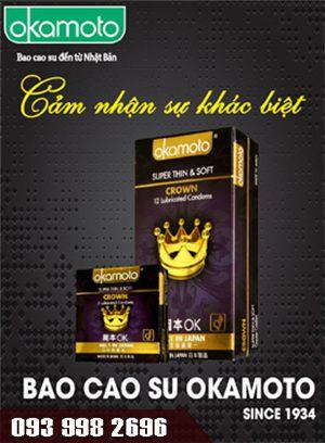 Okamoto Super Thin & Soft Crown trơn mượt