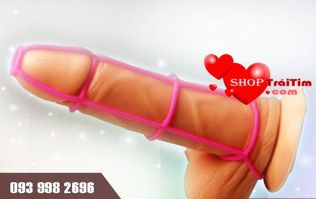 bao cao su đôn dên gân lưới silicone không dùng để phòng tránh thai