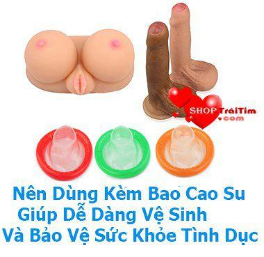 đồ chơi tình dục nên dùng kèm bao cao su giúp bảo vệ sức khỏe
