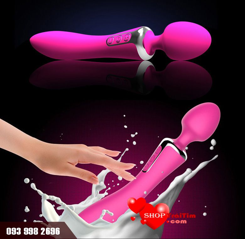 đồ chơi tình dục Chày Rung Mát Xa 2 Đầu Cao Cấp Leten Vibrator sản xuất chất liệu silicone cao cấp