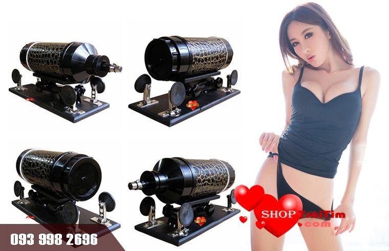 đồ chơi tình dục máy làm tình gun power với đế hút chân không chắn chắn