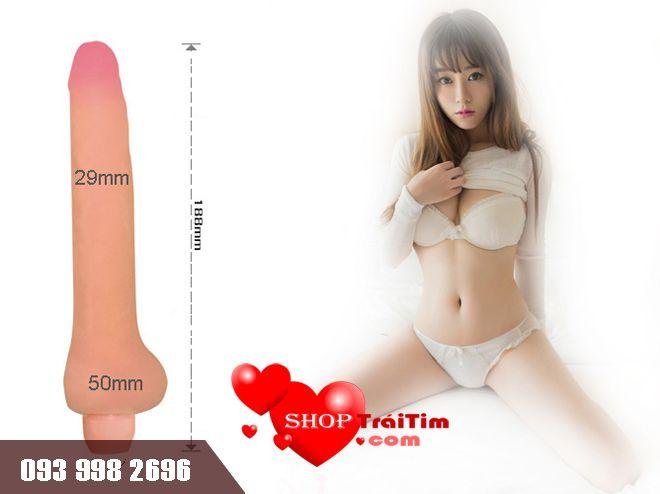 kích thước đồ chơi tình dục dương vật giả Bendable Vibrating