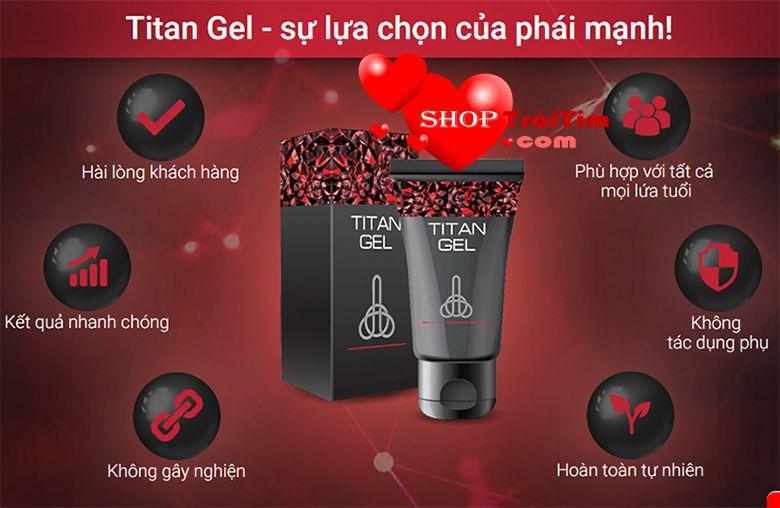 gel titan chiết xuất hoàn toàn từ thiên nhiên
