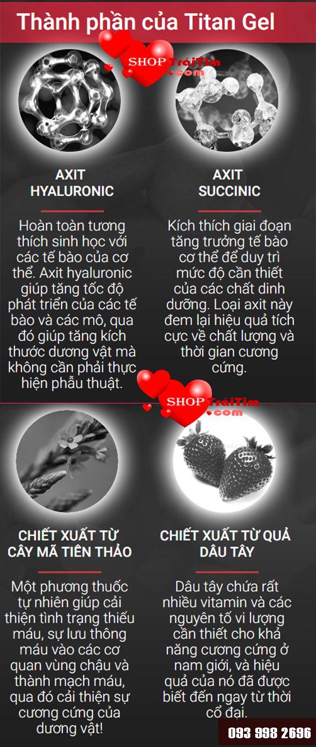thành phần chính của gel titan