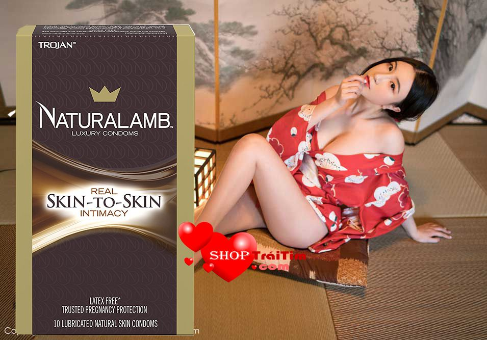 bao cao su nữ TROJAN NaturaLamb Luxury Lubricated Natural Skin Condoms