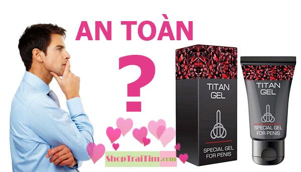 tác dụng phụ của gel titan