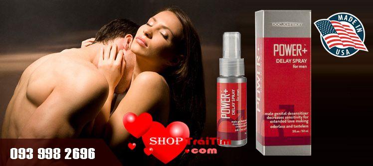 kéo dài thời gian quan hệ với thuốc xịt power delay spray for men