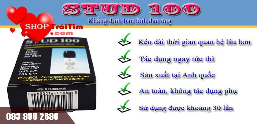 stud 100 an toàn không tác dụng phụ