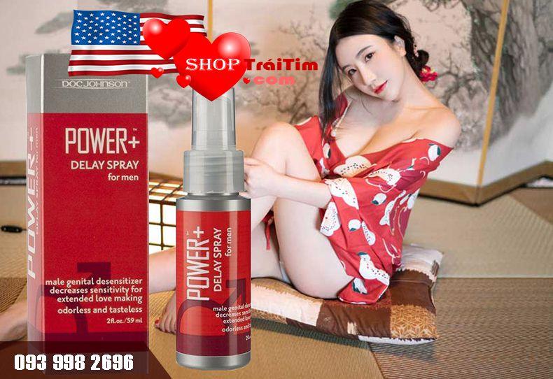 thuốc xịt chống xuất tinh sớm Power Delay Spray xuất xứ mỹ