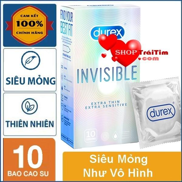 Bao Cao Su Durex Invisible Extra Thin Extra Sensitive Thế Hệ Mới