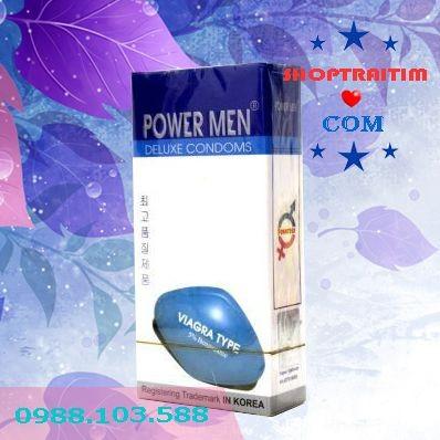 bao cao su kéo dài thời gian quan hệ Power Men Viagra