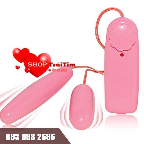 đồ chơi tình dục trứng rung 2 đầu pink