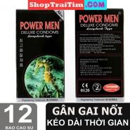 Bao Cao Su Power Men Deluxe Comdoms Long Shock Type