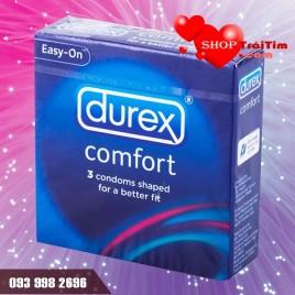 Bao Cao Su Durex Comfort Size Cỡ Lớn 56mm Dành Cho Nam Giới Có Cậu Nhỏ Khủng