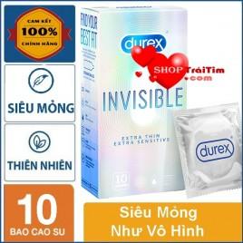 Bao Cao Su Durex Invisible Extra Thin Extra Sensitive Thế Hệ Mới - Siêu Mỏng Như Không Dùng, Giữ Nguyên Cảm Xúc