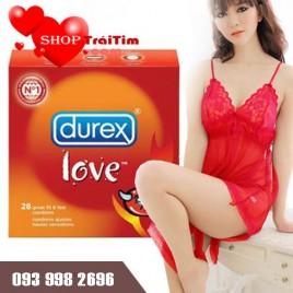 Bao Cao Su Durex Love Siêu Mỏng Mang Hơi Ấm Rạo Rực (Combo 5 hộp 3 chiếc)
