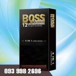 Bao Cao Su Boss 4 in 1 - Siêu Mỏng - Gân - Gai - Kéo Dài