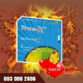 Bao cao su kéo dài thời gian quan hệ True - X Performax