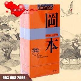 Bao Cao Su Okamoto Orange Hương Cam, Siêu Mỏng