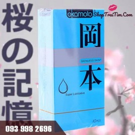 Bao Cao Su Okamoto Skinless Skin Super Lubricative Với Tính Năng Đặc Biệt Phủ Cực Nhiều Gel BÔi Trơn