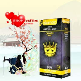 Bao cao su Okamoto Super Thin & Soft Crown Siêu mỏng đến 0.03mm