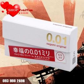 Bao Cao Su Sagami Original 0.01 - Một Trong Những Loại Mỏng Nhất Thế Giới, Trong Suốt Cho Cảm Giác Chân Thật Đến Ngỡ Ngàng