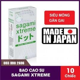 Bao cao su Sagami Xtreme Dot Phiên Bản Mới Gai Nổi Toàn Thân Sướng Như Không Dùng Bao, Mỏng, Truyền Nhiệt Nhanh
