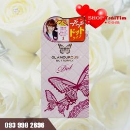bao cao su nhật bản Jex Glamourous Butterfly Dot có gai