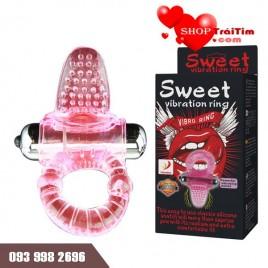đồ chơi tình dục vòng rung kết hợp lưỡi liếm âm đạo Licking Tonge