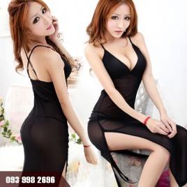 Váy Ngủ Siêu Mỏng Xẻ Tà Dành Cho Cô Nàng Trẻ Trung Gợi Cảm