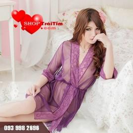 Váy Ngủ Siêu Mỏng Violet Dress Xuyên Thấu Khoe Thân Hình Gợi Cảm Khiến Chàng Xao Xuyến